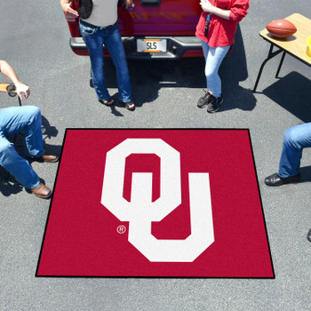 "59.5"" x 71"" University of Oklahoma Red Tailgater Mat"