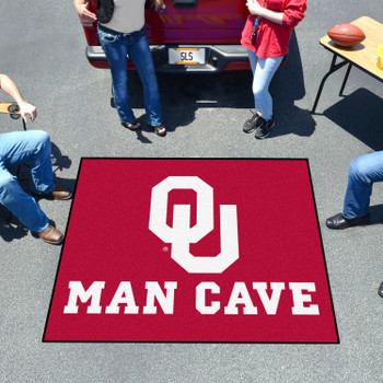 "59.5"" x 71"" University of Oklahoma Man Cave Tailgater Red Rectangle Mat"