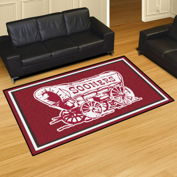 5' x 8' University of Oklahoma Red Rectangle Rug