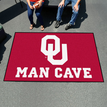 "59.5"" x 94.5"" University of Oklahoma Man Cave Red Rectangle Ulti Mat"