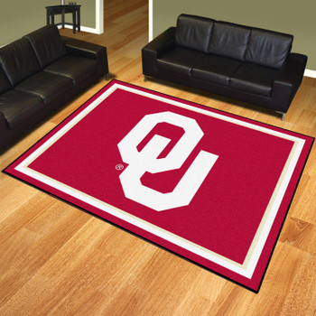 8' x 10' University of Oklahoma Red Rectangle Rug
