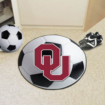 "27"" University of Oklahoma Soccer Ball Round Mat"