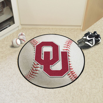 "27"" University of Oklahoma Baseball Style Round Mat"