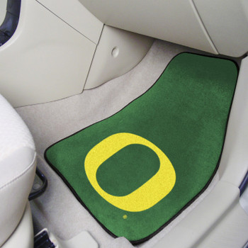University of Oregon Green Carpet Car Mat, Set of 2