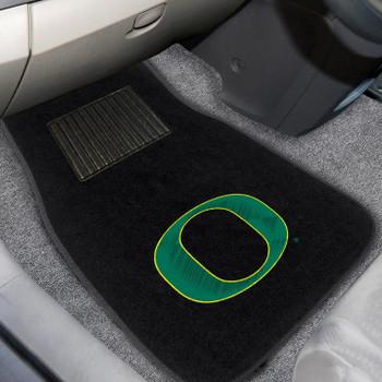 University of Oregon Embroidered Black Car Mat, Set of 2