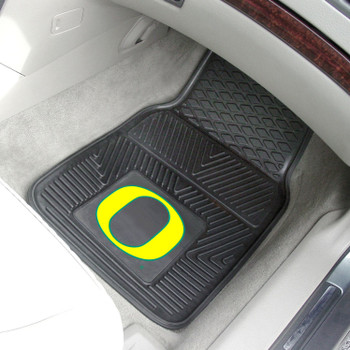 University of Oregon Heavy Duty Vinyl Front Black Car Mat, Set of 2