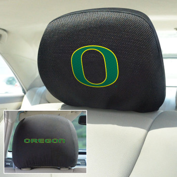 University of Oregon Car Headrest Cover, Set of 2