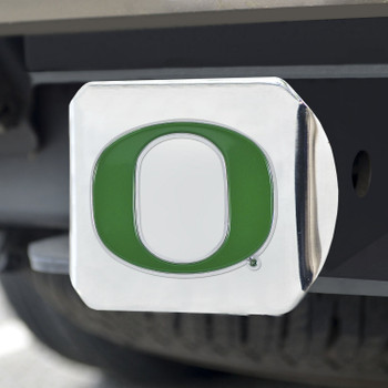 University of Oregon Color Hitch Cover - Chrome