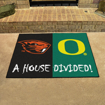 "33.75"" x 42.5"" Oregon / Oregon State House Divided Rectangle Mat"