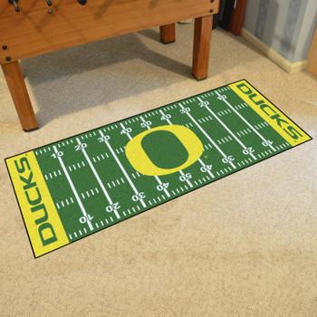"""30"""" x 72"""" University of Oregon Football Field Rectangle Runner Mat"""