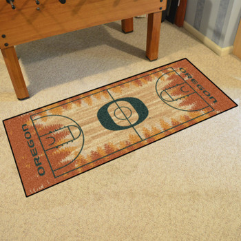 "30"" x 72"" University of Oregon NCAA Basketball Rectangle Runner Mat"