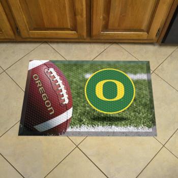 "19"" x 30"" University of Oregon Rectangle Scraper Mat - ""O"" Logo"