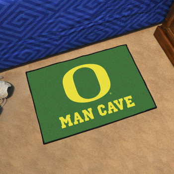 "19"" x 30"" University of Oregon Man Cave Starter Green Rectangle Mat"