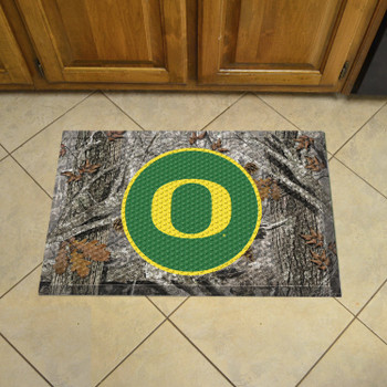 "19"" x 30"" University of Oregon Rectangle Camo Scraper Mat - ""O"" Logo"