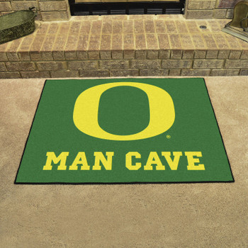 "33.75"" x 42.5"" University of Oregon Man Cave All-Star Green Rectangle Mat"