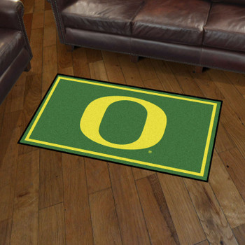 3' x 5' University of Oregon Green Rectangle Rug