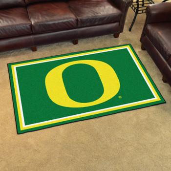 4' x 6' University of Oregon Green Rectangle Rug