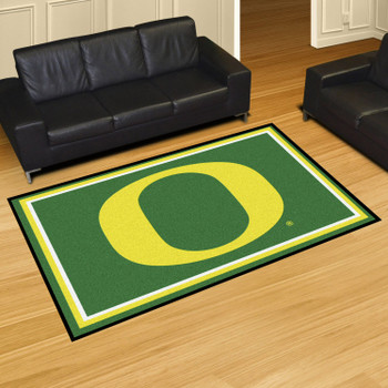 5' x 8' University of Oregon Green Rectangle Rug