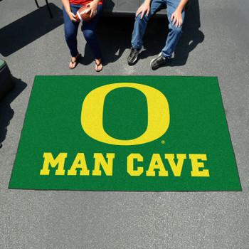 "59.5"" x 94.5"" University of Oregon Man Cave Green Rectangle Ulti Mat"