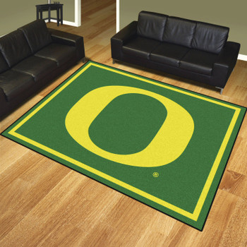 8' x 10' University of Oregon Green Rectangle Rug