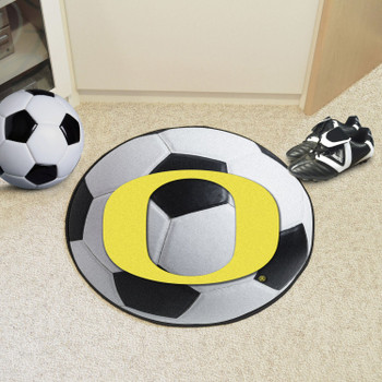 "27"" University of Oregon Soccer Ball Round Mat"