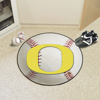 "27"" University of Oregon Baseball Style Round Mat"