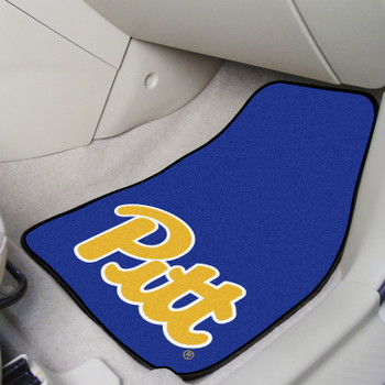 University of Pittsburgh Carpet Car Mat, Set of 2