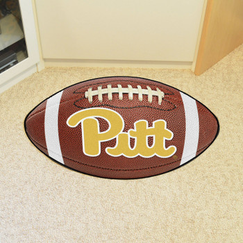 "20.5"" x 32.5"" University of Pittsburgh Football Shape Mat"