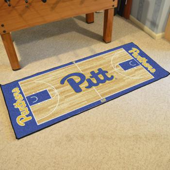 "30"" x 72"" University of Pittsburgh NCAA Basketball Rectangle Runner Mat"