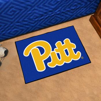 "19"" x 30"" University of Pittsburgh Navy Blue Rectangle Starter Mat"