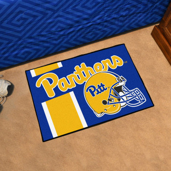 "19"" x 30"" University of Pittsburgh Uniform Navy Blue Rectangle Starter Mat"