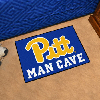 "19"" x 30"" University of Pittsburgh Man Cave Starter Navy Blue Rectangle Mat"