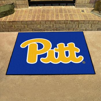 "33.75"" x 42.5"" University of Pittsburgh All Star Navy Blue Rectangle Mat"