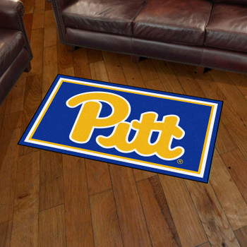 3' x 5' University of Pittsburgh Navy Blue Rectangle Rug