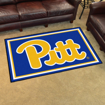 4' x 6' University of Pittsburgh Navy Blue Rectangle Rug