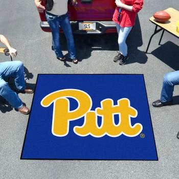 "59.5"" x 71"" University of Pittsburgh Navy Blue Tailgater Mat"