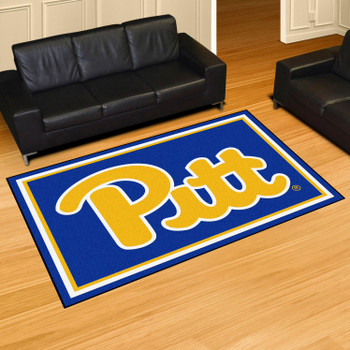 5' x 8' University of Pittsburgh Navy Blue Rectangle Rug