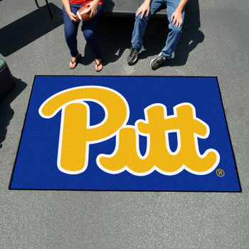 "59.5"" x 94.5"" University of Pittsburgh Navy Blue Rectangle Ulti Mat"