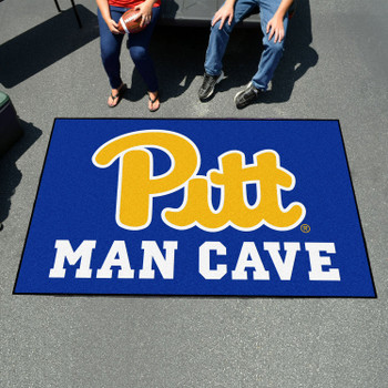 "59.5"" x 94.5"" University of Pittsburgh Man Cave Navy Blue Rectangle Ulti Mat"