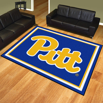 8' x 10' University of Pittsburgh Navy Blue Rectangle Rug