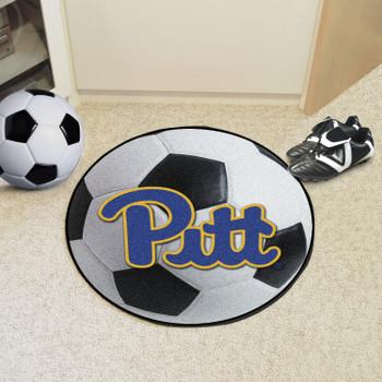 "27"" University of Pittsburgh Soccer Ball Round Mat"