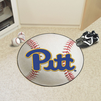 "27"" University of Pittsburgh Baseball Style Round Mat"