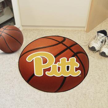 "27"" University of Pittsburgh Basketball Style Round Mat"