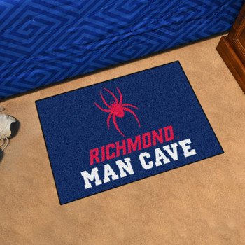 "19"" x 30"" University of Richmond Man Cave Starter Navy Blue Rectangle Mat"