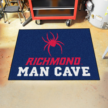 "33.75"" x 42.5"" University of Richmond Man Cave All-Star Navy Blue Rectangle Mat"