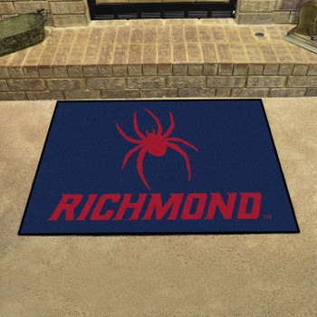 "33.75"" x 42.5"" University of Richmond All Star Navy Blue Rectangle Mat"