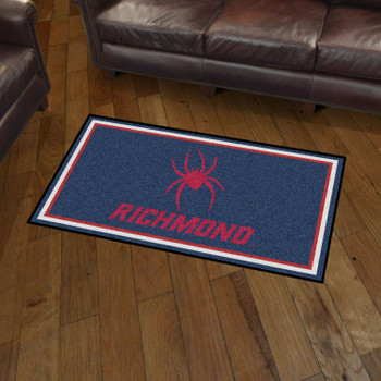 3' x 5' University of Richmond Navy Blue Rectangle Rug