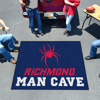 "59.5"" x 71"" University of Richmond Man Cave Tailgater Navy Blue Rectangle Mat"