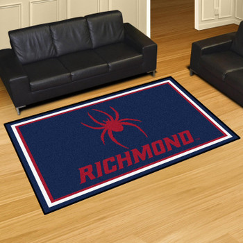 5' x 8' University of Richmond Navy Blue Rectangle Rug