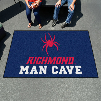 "59.5"" x 94.5"" University of Richmond Man Cave Navy Blue Rectangle Ulti Mat"